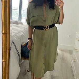 Faithfull the Brand Dresses - Faithfull the Brand Gigi Olive Dress